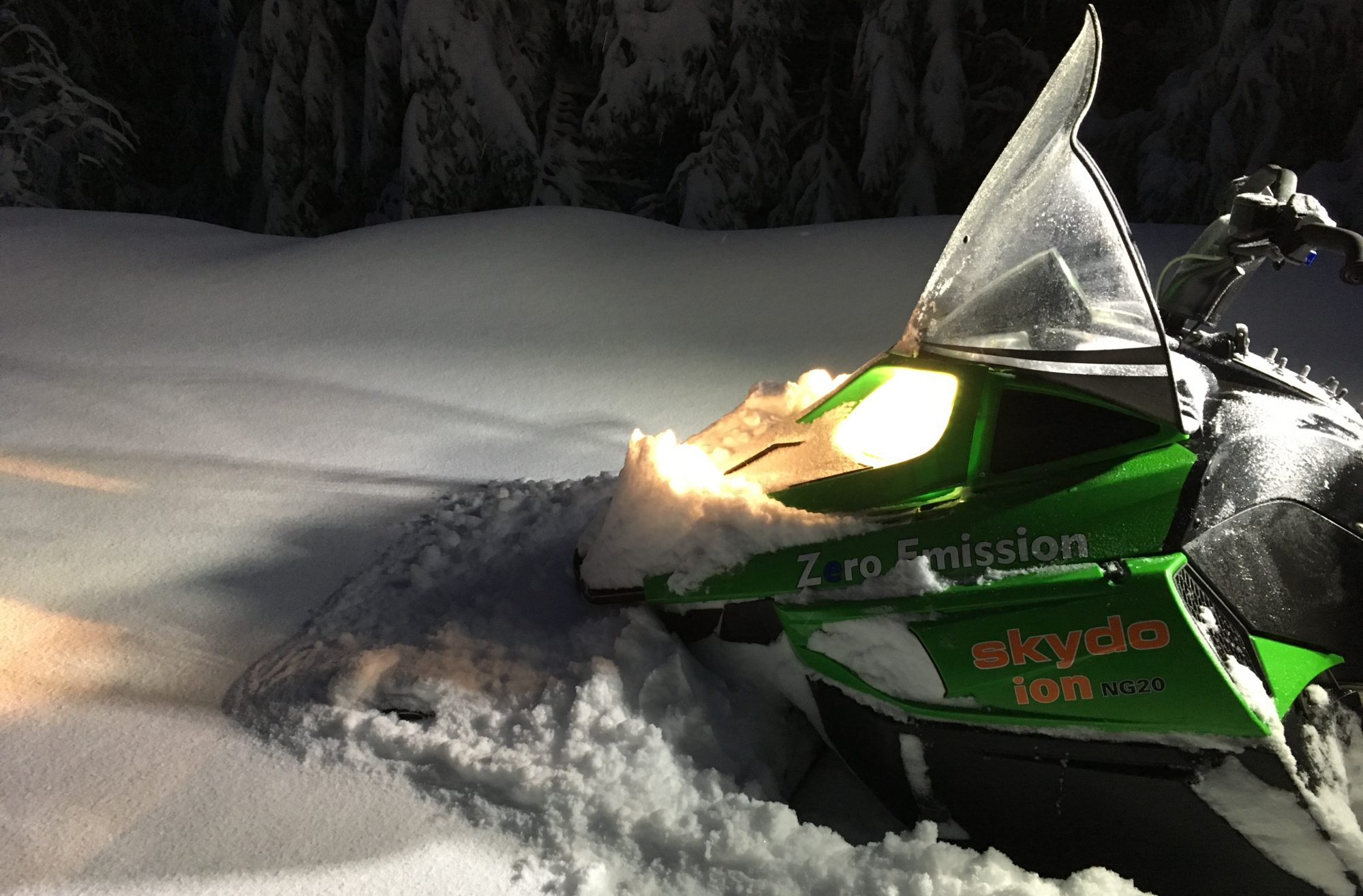 Skydo iON - the next Generation electric Snowmobile